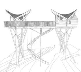 Architectural Tree House Design Sketch