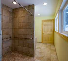 General Contractor Newly Built Bathroom