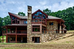 Custom Designed and Built Forest Retreat House